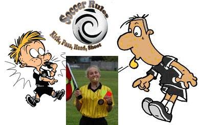 Soccer referee with Livingston Soccer Club